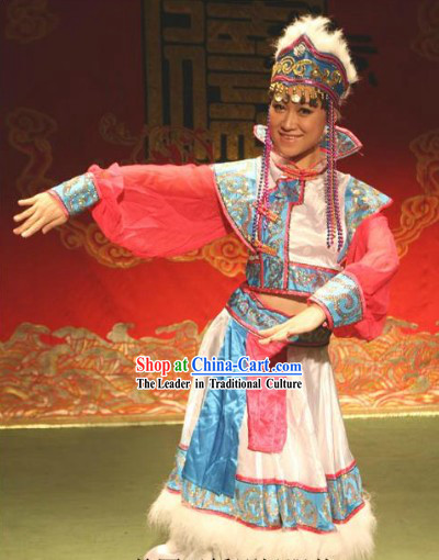 Traditional Chinese Mongolian Outfit for Women
