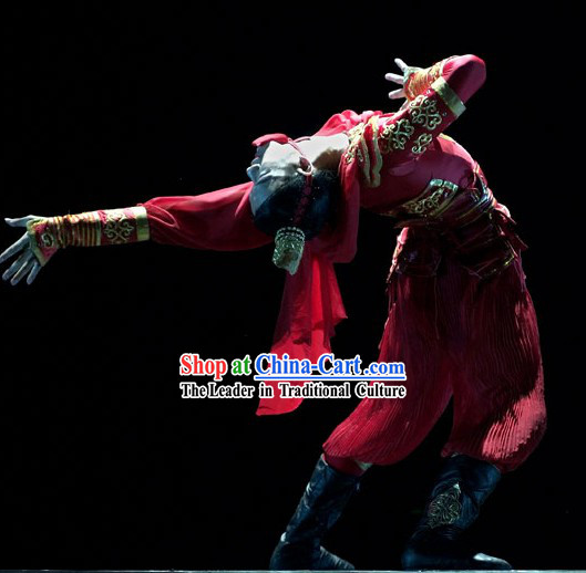 Traditional Chinese Classical Guard Dance Costumes for Men