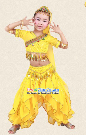 Indian Bollywood Dance Costumes for Kids