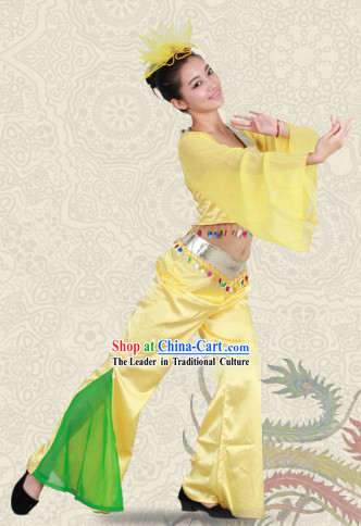 Stage Performance Yangge Dance Suit for Women