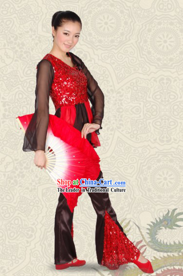 Modern Fan Dance Costumes for Women