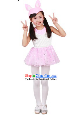 Rabbit Dance Costumes and Hat for Children