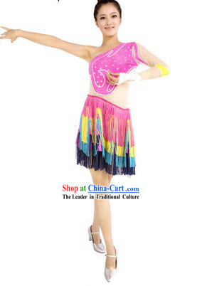 Latin Stage Performance Dance Outfit for Women