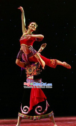 Chinese Folk Ethnic Nationality Costumes for Men and Women