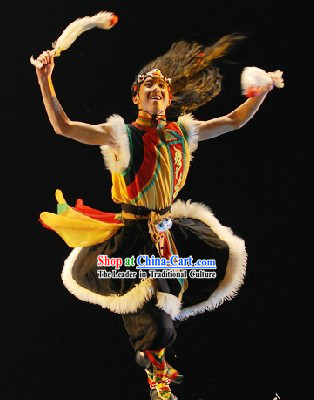 Wu Gu Le Shan Dian Grassland Tribe Dance Costumes for Men