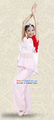 Chinese Han Minority Fan Dance Costumes and Headwear for Women