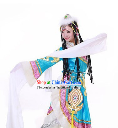 Tibetan People Dance Costumes and Accessories for Women