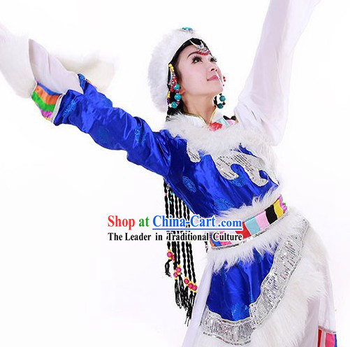Tibetan Stage Performance Hat and Wigs for Women