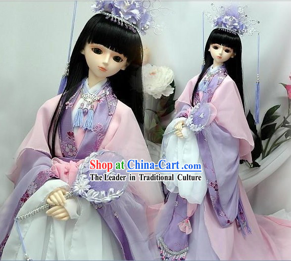 Ancient Chinese BJD Costumes and Hair Accessories for Real People