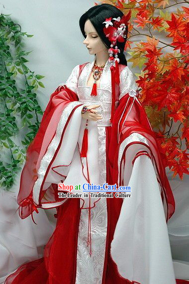 Ancient Chinese BJD Princess Costumes and Hair Accessories for Women