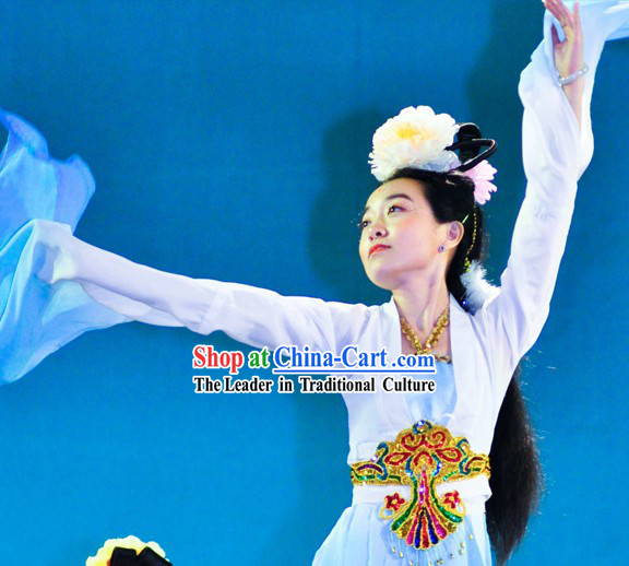 Long Sleeves Dance Costumes and Headwear for Women