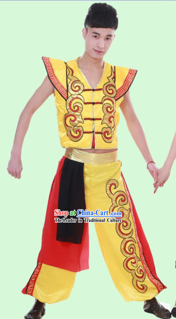 Traditional Chinese Drum Player Outfit for Men