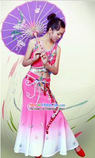 Traditional Chinese Dai Clothes Set for Women