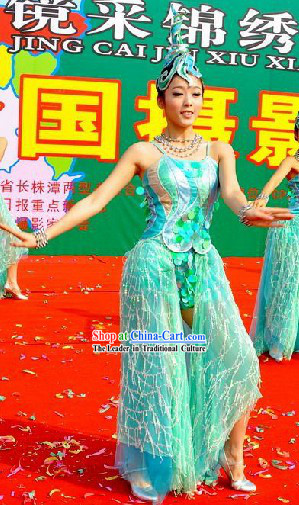 Chinese Hunan Pronvice Style Dance Costumes for Women