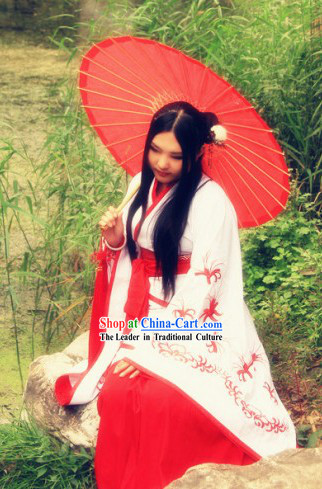 Ancient Chinese Hanfu Clothing Attire Complete Set for Women