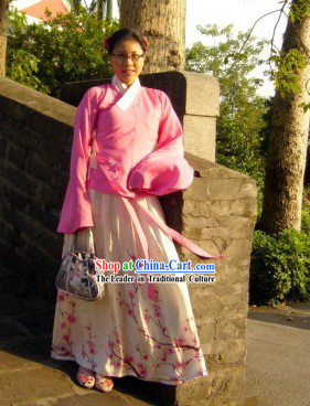 Traditional Chinese Han Fu Robe Complete Set for Women