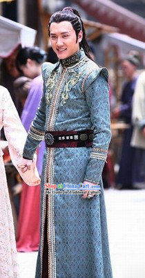 Chinese Costume Period of the Northern and Southern Dynasties Ancient Chinese King of Lanling Costumes Complete Set for Men