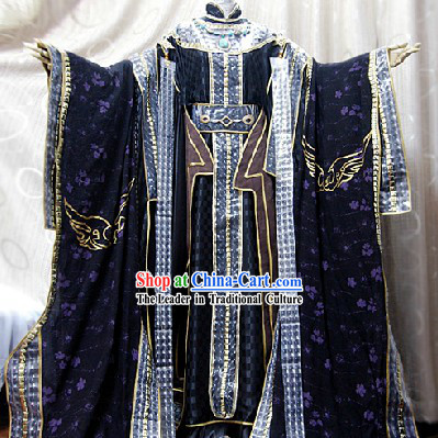 Ancient Chinese Emperor Dress Cosplay Complete Set for Men