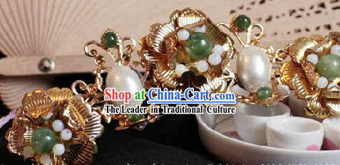 Ancient Chinese Handmade Flower Hair Clasp