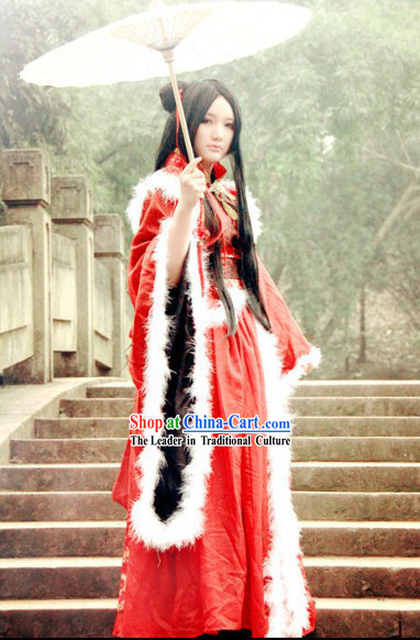 Traditional Chinese Wedding Dress Winter Version Complete Set