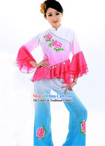 Classical Yang Ge Dancing Costumes and Headgear for Women