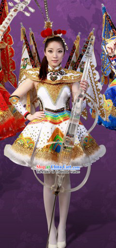 2013 New Style Peking Opera Type Stage Performance Dancing Costume and Hair Accessories for Women