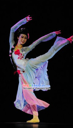 Mandarin Classical Dancing Costume and Hat Complete Set