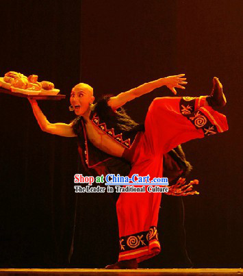 Custom-made Chinese Ethnic Solo Dance Costumes for Men