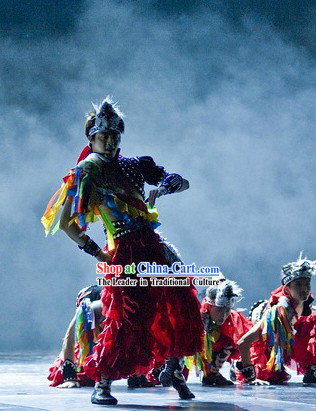 Ethnic Minority Group Dance Costumes for Competition