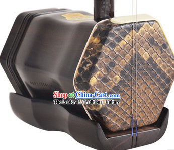 Supreme Ancient Style Chinese Python Leather Erhu