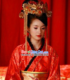 Chinese Wedding Ceremony Phoenix Hat for Women
