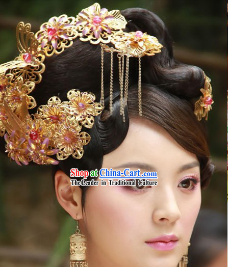 Movie and Television Play Imperial Palace Princess Headwears and Earrings