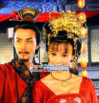 Movie and Television Play Tang Dynasty Emperor and Empress Yang Guifei Phoenix Headwears Set