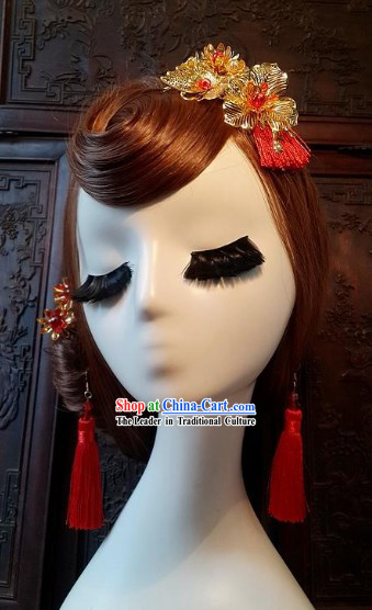 Traditional Chinese Wedding Ceremony Brides Headpieces Complete Set