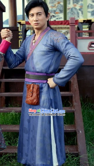 Ancient Mandarin Swordman Costumes Complete Set