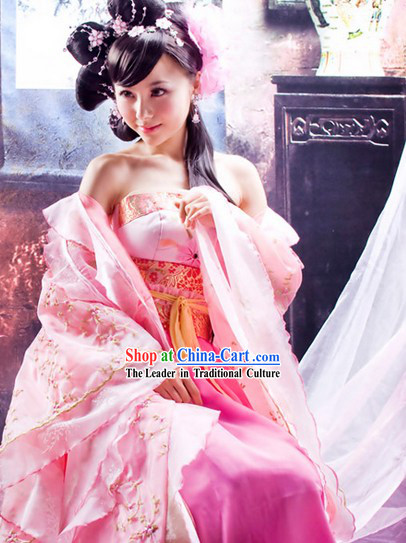 Pink Ancient Lovely Young Beauty Clothes Complete Set