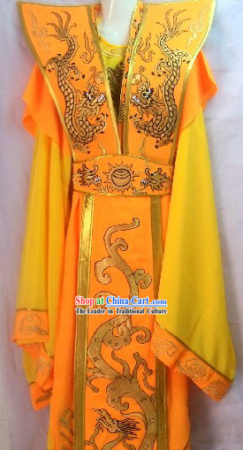 Traditional Chinese Emperor Stage Performance Costumes for Men