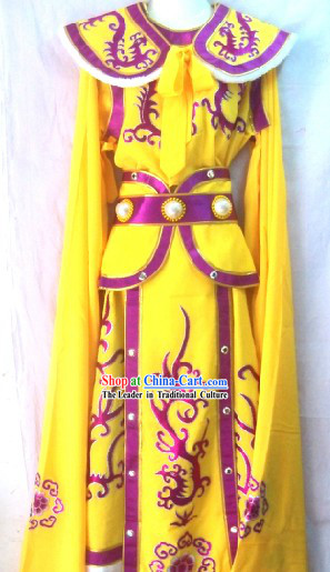 Traditional Chinese Opera Prince Armor Stage Performance Costumes for Men