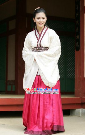 Ancient Korean Lady Clothes Complete Set