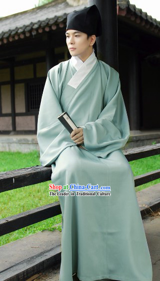 Traditional Ancient Chinese Authentic Hanfu Shenyi Clothing for Men