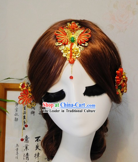 Traditional Chinese Bridal Hair Accessories for Weddings