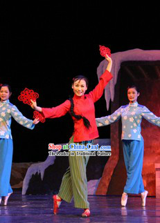 Traditional Chinese Xi Er Stage Performance Costumes
