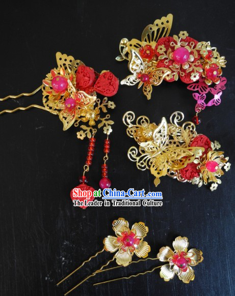 Traditional Chinese Handmade Wedding Hair Flowers