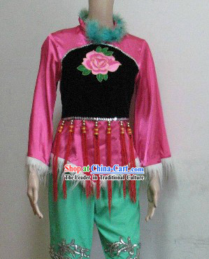 Chinese Yangge Dance Costumes Complete Set for Women