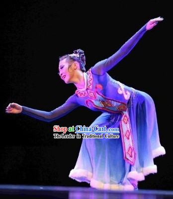 Chinese Solo Costumes and Headdress Complete Set for Women