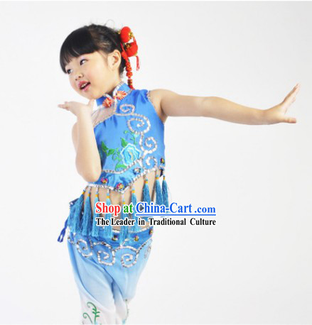 Asian Festival Celebration Dancing Costume for Kids