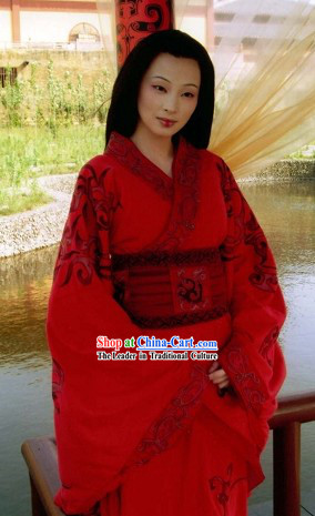 Chinese Han Dynasty Traditional Clothing for Women