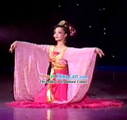 Traditional Chinese Classic Dance Costumes and Headdress for Women
