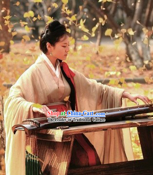 Ancient China Han Dynasty Female Chinese Hanfu Clothing Complete Set for Women