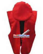 Traditional Japanese Red Birthday Celebration Kanreki Cap and Vest